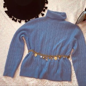 Vtg 70s Lavender Pierre Cardin Cashmere Sweater